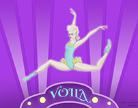 Voila Art Deco Jumping Ballerina