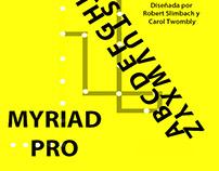 Espécimen tipografía Myriad Pro