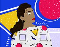 80's Girl Illustration