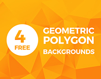 4 Free High-Res Geometric Polygon Backgrounds