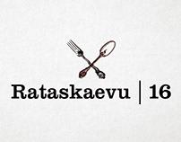 Branding for restaurant Rataskaevu 16 in Tallinn. 2012