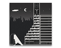 Monocle Magazine, 111 | Timber tower illustrations