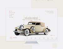 Web site .History car. (концепт)