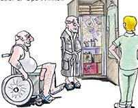 Cartoons Altenpflege