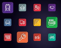 Transportation - Transport Vehicle Auto Service  icons