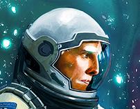 Interstellar- Cooper illustration