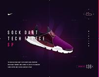 NikeLab Sock Dart Fleece _ Microsite concept