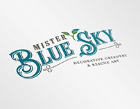 Mister Blue Sky Logo Design