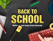 Back To School Mockup & Hero Image Scene Generator