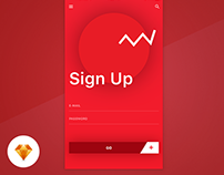 Sign Up - Day87 UI/UX Free SketchApp Challenge