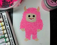 Pinkest Yeti - Fun Character design