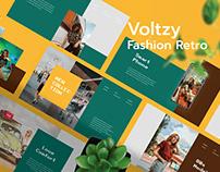 Voltzy - Fashion Retro Presentation Template