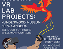 Flyer Utilized for Lindenwood University VR Lab