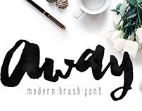 Away Modern Brush Typeface