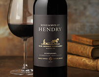 Mike & Molly Hendry Wine Packaging & Logo Design