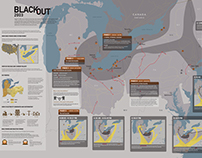 Infographic Design | Blackout 2003 poster