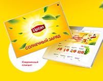 "Lipton retail ""5"" promo. BTL"