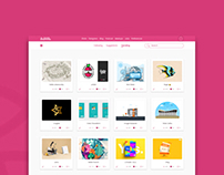 Dribbble redesign idea