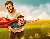 Ilustração. Smallville fields.