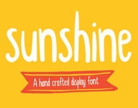 Sunshine typeface and free font