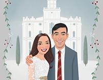 Wedding Portrait Illustrations and Design