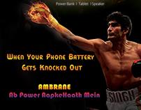 Ambrane Powerbank Boxing Hoarding