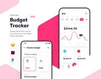 Budget tracker - App UI kit