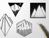 Geometric Landscape Illustrations