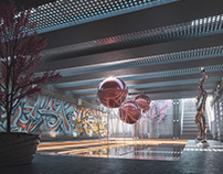 Concept. Subway entrance.