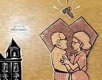 Cordel ilustrado para Pré-campanha política