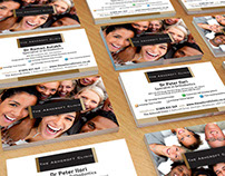 The Ashcroft Clinic business cards