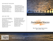Frontline Voices 2018 Easter Concert Collateral
