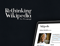 Rethinking Wikipedia - Ux/Ui Concept (2014)