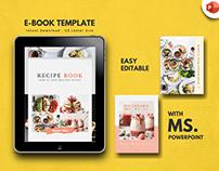 Minimal recipe cookbook template