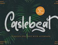Caslebeat - Playful SVG Font