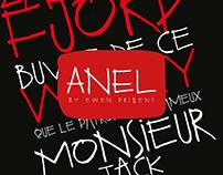 Anel, typography