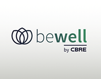 """Be Well"" - CBRE campaign (Graphic imagem proposal)"