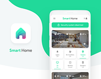 Smart Home - IoT & Security App | Concept Design