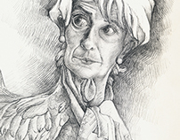 Christine Lagarde caricature