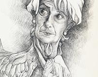 Christine Lagarde caricature
