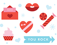 zulily Valentine illustrations