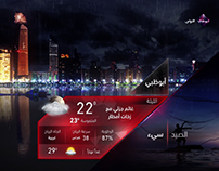 Abu dhabi TV weather clip