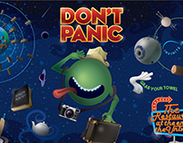 HITCHHIKERS GUIDE – WALL ART