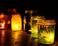 Lights in glass