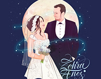 BRIDE AND GROOM ILLUSTRATION STEP BY STEP