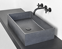 BOX concrete washbasin