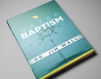 Book Cover Design for Water Baptism by Dr. Jim Wall
