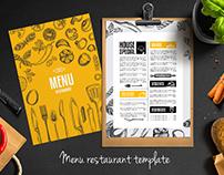 Menu restaurant design