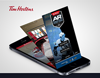 Tim Hortons AR Hockey Cards APP - GUI Design