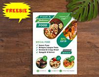 Restaurant Flyer Template FREEBIE
